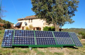 solar panels in front of Eloquentia farm house